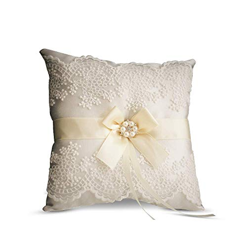 Alex Emotions Ivory Ring Bearer Pillow Ivory Wedding Ring Pillow Lace Collection Lace Wedding Pillow
