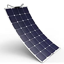 Solar Panel Charger ALLPOWERS 100W 18V 12V Bendable SunPower Solar Panel Charger Water/Shock/Dust Resistant Solar Charger for RV, Boat, Cabin, Tent, Car, Trailer, Or Any Other Irregular Surface