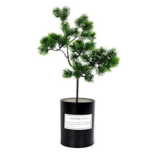 Artificial Plants - 40cm Single Big Pine Branch Simulation Green Leaves Plant Welcoming Bonsai Home Decoration Fake - Glass Mother Balls Piece Decoration Greenery Small Office Realistic Kit
