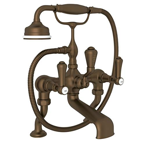 Perrin & Rowe Georgian Era Exposed Deck Mount Tub Filler with Handshower ()