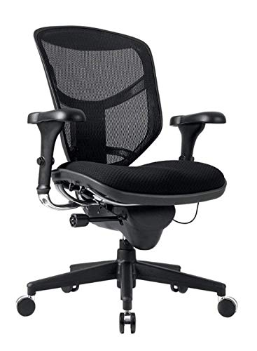 WorkPro Quantum 9000 Series Ergonomic Mid-Back Mesh/Fabric Chair, Metal - Series Desk Quantum