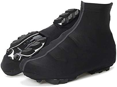 サイクリングシューズカバー ユニセックスマルチカラーマウンテンバイク自転車暖かい靴カバー防水防風雨雪ブーツプロテクターオーバーシューズ ロードバイクシューズカバー (色 : Black, Size : XL)