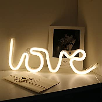 Neon love signs light led neon art decorative lights wall decor for neon love signs light led neon art decorative lights wall decor for girls bedroom house bar pub hotel beach recreational love warm white aloadofball Image collections