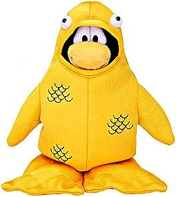 Price comparison product image Disney Club Penguin 6.5 Inch Series 4 Plush Figure 12th Fish Costume (Includes Coin with Code!)