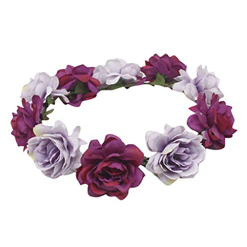 Landscap Bridal Headpieces Wedding Headband Women Garland Hair Wreath Halo, Flower Design Simple Bridal - Plate Garland Dessert