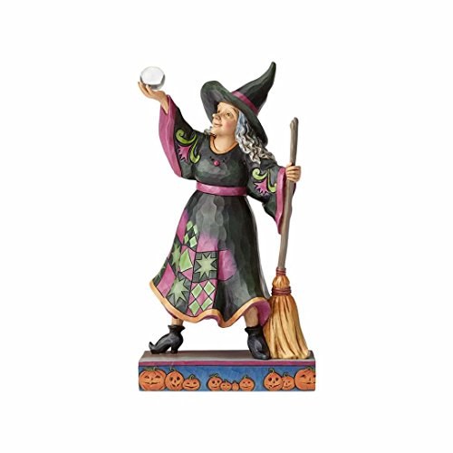 Enesco Jim Shore Heartwood Creek Witch with Crystal Ball/Broom ()