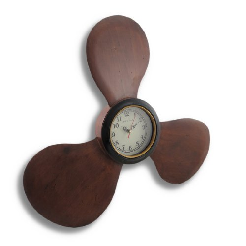 Things2Die4 Wooden Ship Propeller Maritime Nautical Wall Clock