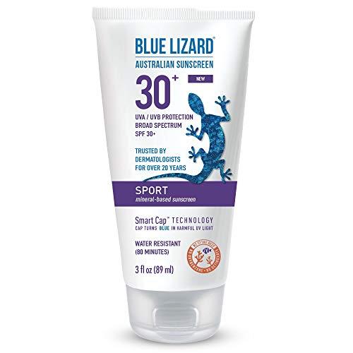 Blue Lizard Australian Sunscreen - Sport Sunscreen, SPF 30+ Broad Spectrum UVA/UVB Protection - 3 oz. Tube