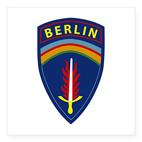 CafePress - Berlin Brigade Sticker - Square Bumper Sticker Car Decal, 3