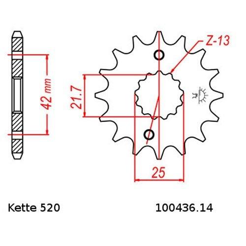 14//42 Kettensatz Aprilia RS 250 95-04 offen Kette DID 520 ZVM-X 110
