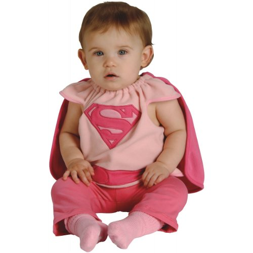 Baby Halloween Costumes On Sale (Rubie's Costume Co Baby Girl's DC Superheroes Supergirl Deluxe Bib, Multi, One Size)