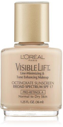 L'Oreal Paris Visible Lift Line-Minimizing & Tone-Enhancing Makeup, Light Ivory, 1.25 Ounces