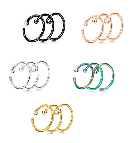 Jstyle 18 20G Stainless Piercing Jewelry