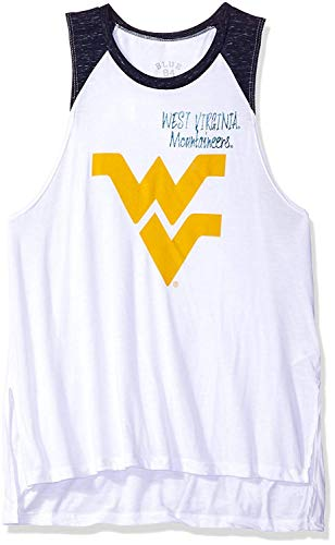 Mountaineers West Virginia Tank Top Womens Small Muscle Shirt WVU USA Made
