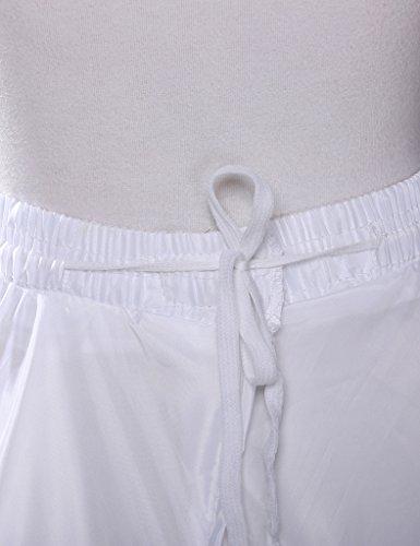 JAEDEN - Braguitas moldeadoras completas - corte imperio - para mujer blanco