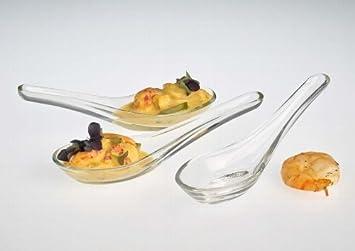 Gourmet Löffel aus Glas fingerfood Vorspeisen/ Mini Glas ...
