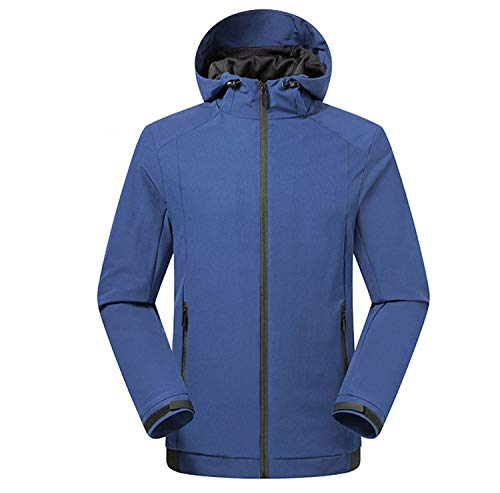 LANBAOSI Men's Quick Dry Outerwear Jackets Lightweight Casual Windbreaker with Hood Royal Blue