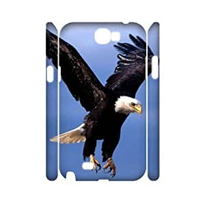 Bald Eagle Personalized 3D Cover Case for Samsung Galaxy Note 2 N7100,customized phone case ygtg579473