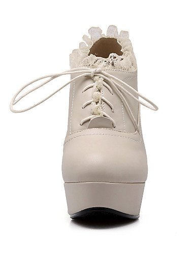 Njx Nero Shoes us10 5 Similpelle Donna Tacco a Eu42 Uk8 Marrone 5 Marrone Tacco Hug Cn43 spillo Casual a velluto Beige IwIqZr5W