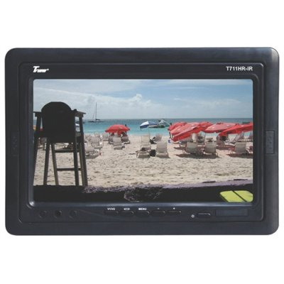 Tview T711hrir 7 Tft Lcd Black Dash Mount/ Headrest Widescreen Monitor