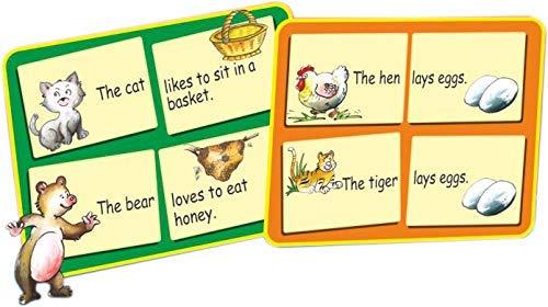 StonKraft Preescolar inglés Juguetes de Aprendizaje - Construir una oración | Juguetes educativos | Juegos a Juego para niños y niños pequeños | Juegos de ...
