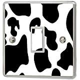 Cow Print Light Switch Sticker Vinyl / Skin cover sw23