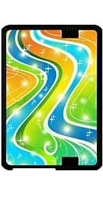 """Funda para Kindle Fire HD 7"""" (2012 Version) - Estrellas Del Arco Iris Y Remolinos"""