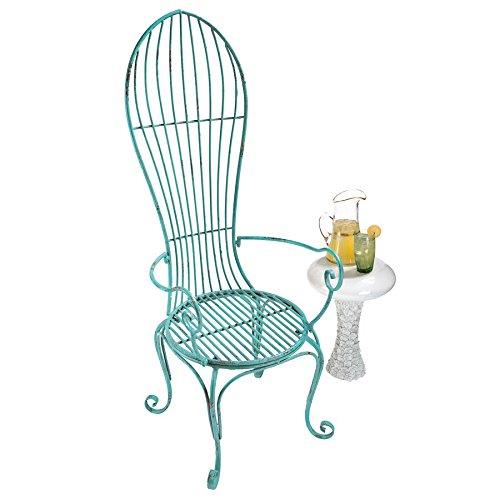 Cheap  Design Toscano Balloon Back Metal Garden Arm Chair: Set of Two