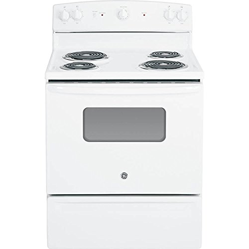 GE JBS10DFWW 30-Inch 5 Cu.Ft. Free-Standing Electric Range, White (Standard Electric Ranges Clean Freestanding)