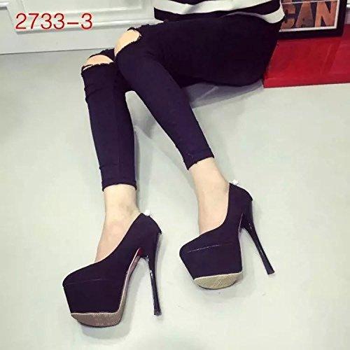 Black cm 16 XiaoGao Zapatos de de fino alto tacon tacon Annw6zxXq