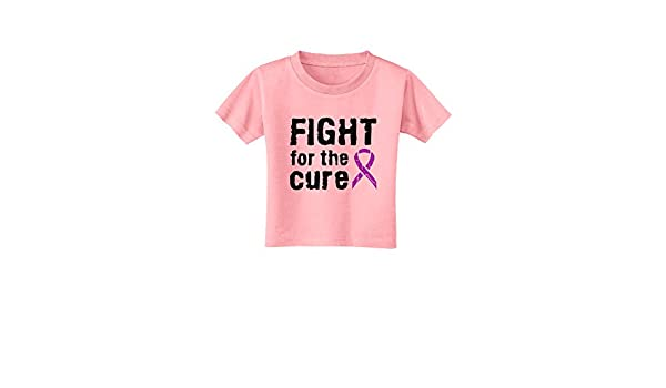 TooLoud Fight for The Cure Purple Ribbon Epilepsy Infant T-Shirt Dark