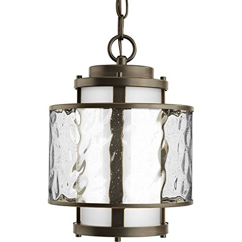 Progress Lighting P5589-20 Bay Court Collection 1-Light Hanging Lantern, Antique Bronze