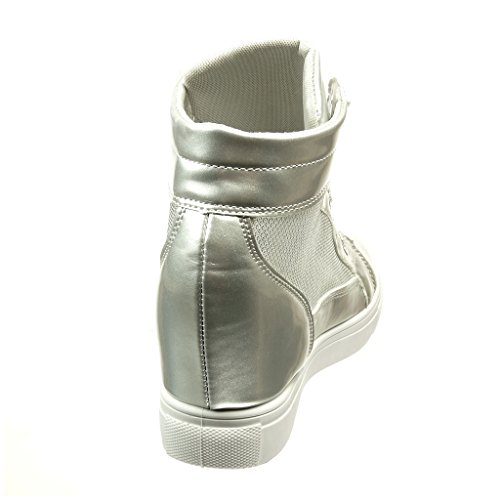 Verni Compensée Compensé Femme Chaussure Diamant Strass CM 6 Angkorly Mode Talon Brillant 5 Basket CBx0wqnTRf