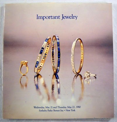 Sotheby Parke Bernet: Important Jewelry. New York: May 22, 1980 - Sale 4383