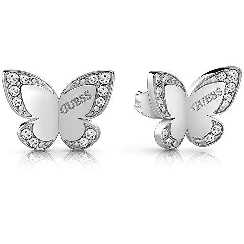 Pendientes Guess Love Butterfly acero inoxidable quirúrgico logo chapados rodio UBE78010 [AC1126] a buen precio