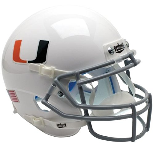 Miami Hurricanes Team Helmet - NCAA Miami Hurricanes Mini Helmet, One Size, White