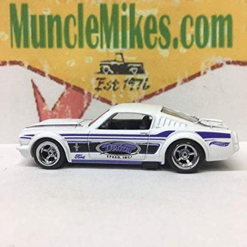 Custom Diecast 1965 Mustang Fastback Hot Rod Muscle Car With American Racing Wheels and Rubber Tires ()
