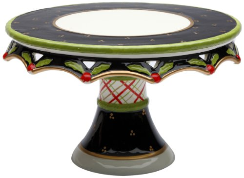 Appletree Design 40209 Holly Cake Stand, 10-1/4 by 6-1/4 by 10-1/4-Inch (Holly Cake)