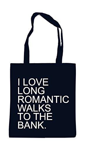 I Love Long Romantic Walks Bag Black