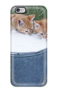Cute Appearance Cover/tpu LkQlWLN8646hGMjV Kitties Drinking Milk Case For Iphone 6 Plus