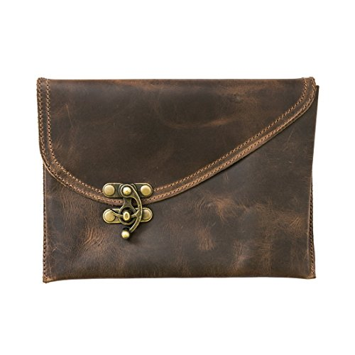 Couture Watch Brown Strap (Vintage Leather Clutch Bag Handmade by Hide & Drink :: Bourbon)