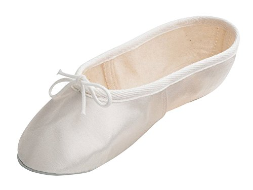 Rubber Sole Girls Bridesmaid Ballet By Shoes Wedding Dancewear White All Off Satin Pumps Ladies Katz Sizes X1qdxwIff