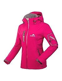 CIKRILAN Women's Soft Shell Windproof Outdoor Fleece Lined Jacket Ladies Coat