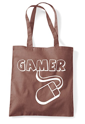 Gaming Gamer Shopper Bag Chestnut Statement Pc Mouse Tote Fxx6wqAE