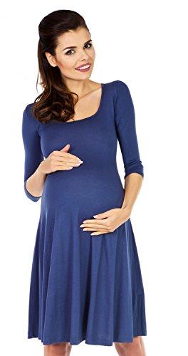 Zeta Ville Premamá - Vestido con vuelo - para mujer 314c azul/gris