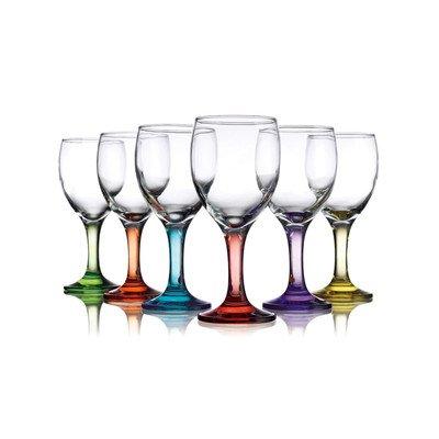 Carnival Color, Wine Glass 10 OZ, Set of 6 - 10 OZ