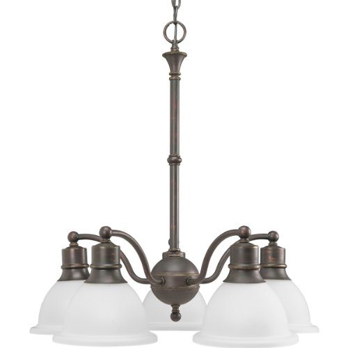 Progress Lighting P4281-20 5-Light Reversible Chandelier, Antique Bronze