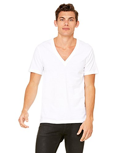 bella-canvas-unisex-jersey-short-sleeve-deep-v-neck-t-shirt-l-white