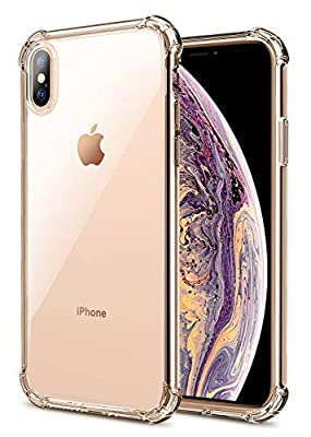 Matone iPhone XS Max Case, Crystal Clear Slim Protective Cover with Reinforced Corner Bumpers, Flexible Soft TPU Anti-Scratch Case for Apple iPhone XS Max (2018) 6.5-Inch