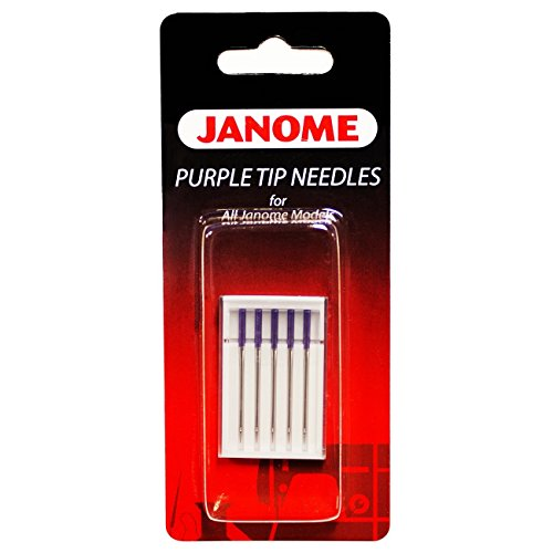 Needles Prevents Skipped Stitches (Janome Purple Tip Sewing Machine Needles)